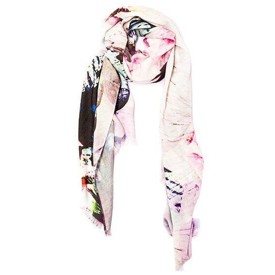 bamboo bliss shawl w cotton maroon